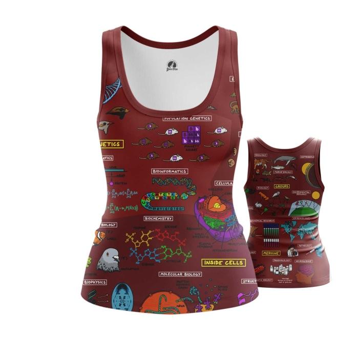 Collectibles Women'S Tank Biology Science Print Vest