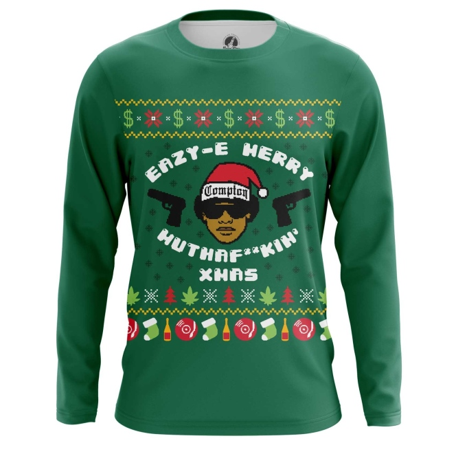 Merchandise Men'S Long Sleeve Merry Motherfucki' Xmas Eazy-E