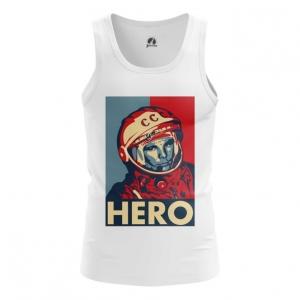 Collectibles Men'S Tank Hero Yuri Gagarin The Hero Vest