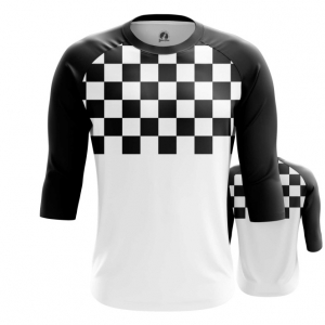 Merchandise Men'S Raglan Checkered Chess Pattern