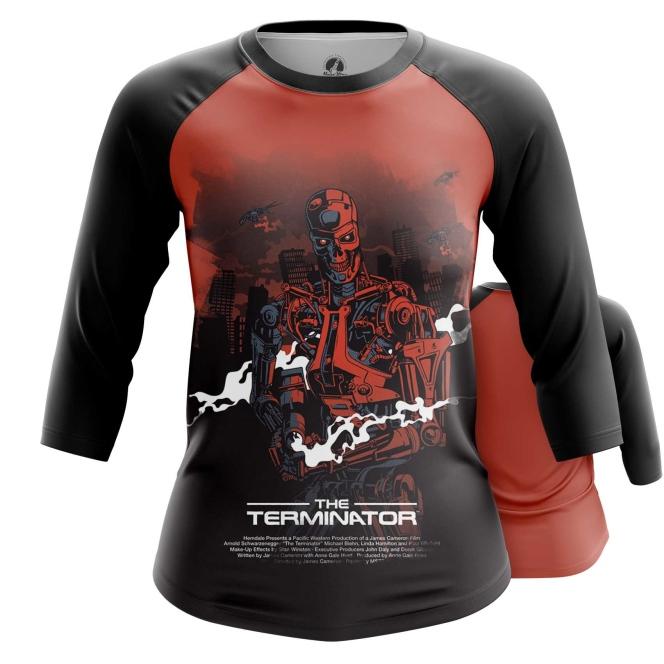 Merch Women'S Raglan Terminator Endoskeleton Robot