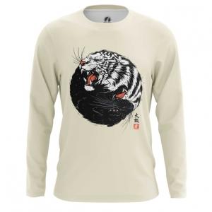 Merchandise Men'S Long Sleeve Tiger Panther Print