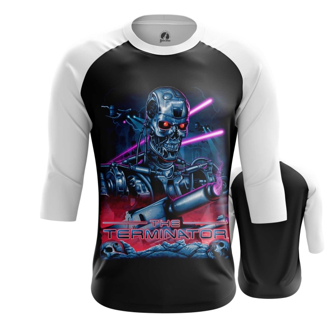 Merchandise Men'S Raglan Terminator New Retrowave
