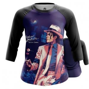 Collectibles Women'S Raglan Smooth Criminal Michael Jackson