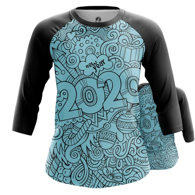 Merch Women'S Raglan New Year 2020 Pattern Symbols