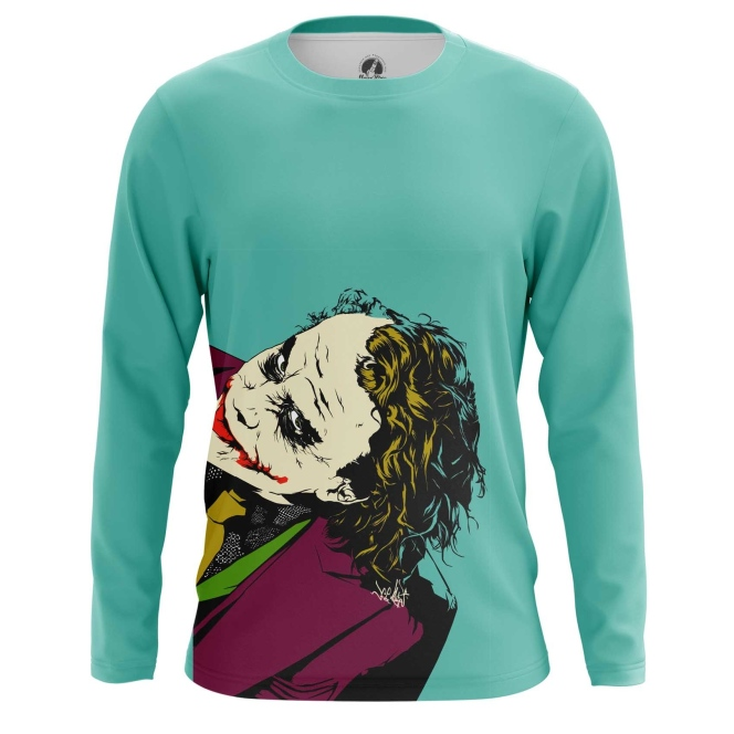 Merch Men'S Long Sleeve Heath Ledger Joker