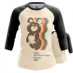 Merch Women'S Raglan Olympic Games 1980 Ussr Bear