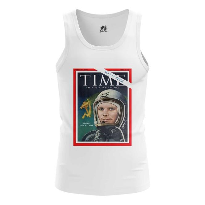 Merch Men'S Tank Magazine Cover Time Yuri Gagarin Vest