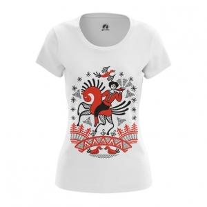 Collectibles Women'S T-Shirt Folk Slavic Paints Painting Top