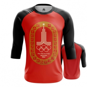 Merch Men'S Raglan Olympic Games 1980 Symbols Red