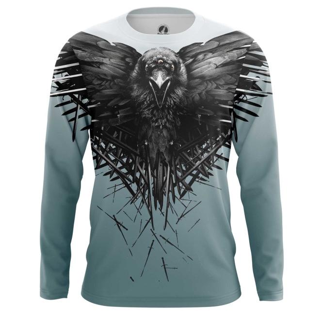 Merchandise Men'S Long Sleeve Third Eye Crow Game Of Thrones