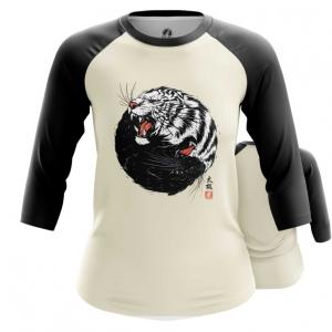 Merchandise Womens Raglan Tiger Panther Print