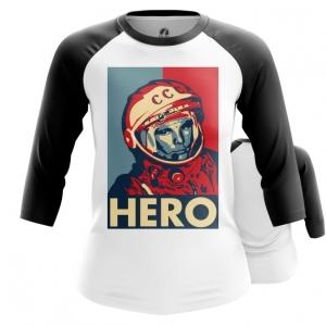 Collectibles Women'S Raglan Hero Yuri Gagarin The Hero