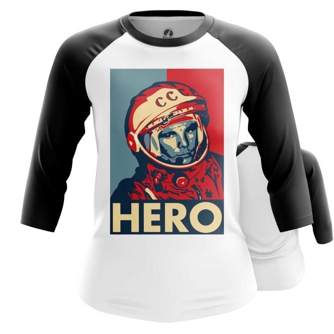 Merch Women'S Raglan Hero Yuri Gagarin The Hero
