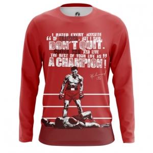 Merchandise - Mens Long Sleeve Muhammad Ali Quotes Clothing