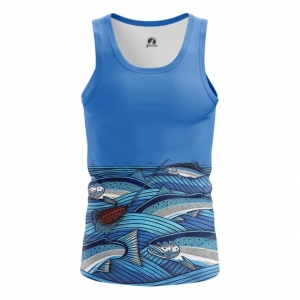 Merch Men'S Tank Fish Print Fishing Vest