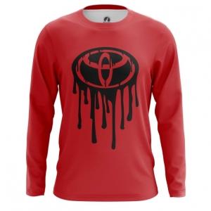 Merch Men'S Long Sleeve Toyota Logo Red