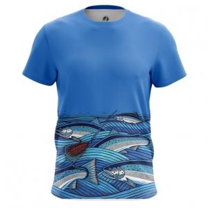Merch Men'S T-Shirt Fish Print Fishing Top