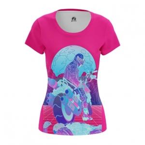 Merch Women'S T-Shirt Riding Along Retrowave Top