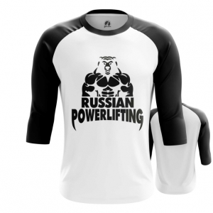 Merchandise Men'S Raglan Powerlifting Russian Merch