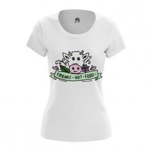 Merch Women'S T-Shirt Go Vegan Green Top