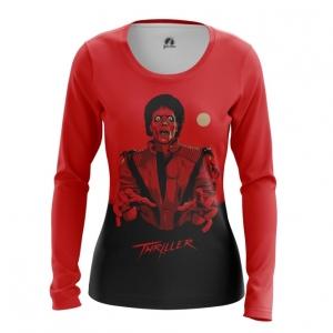 Collectibles Women'S Long Sleeve Thriller Michael Jackson