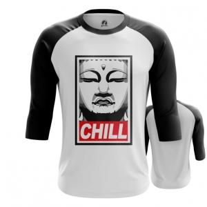 Merch Men'S Raglan Buddha Chill Print Red