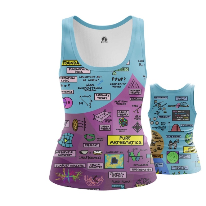 Merch Women'S Tank Math Science Print Vest