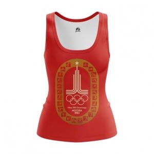 Merch Women'S Tank Olympic Games 1980 Symbols Red Vest