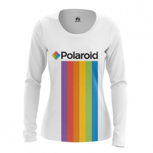 Collectibles Women'S Long Sleeve Polaroid Rainbow Logo