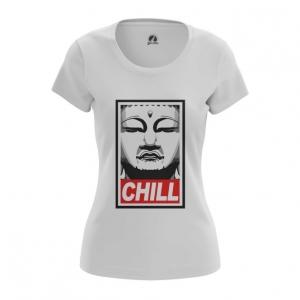 Merch Women'S T-Shirt Buddha Chill Print Red Top