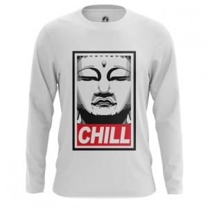 Merch Men'S Long Sleeve Buddha Chill Print Red