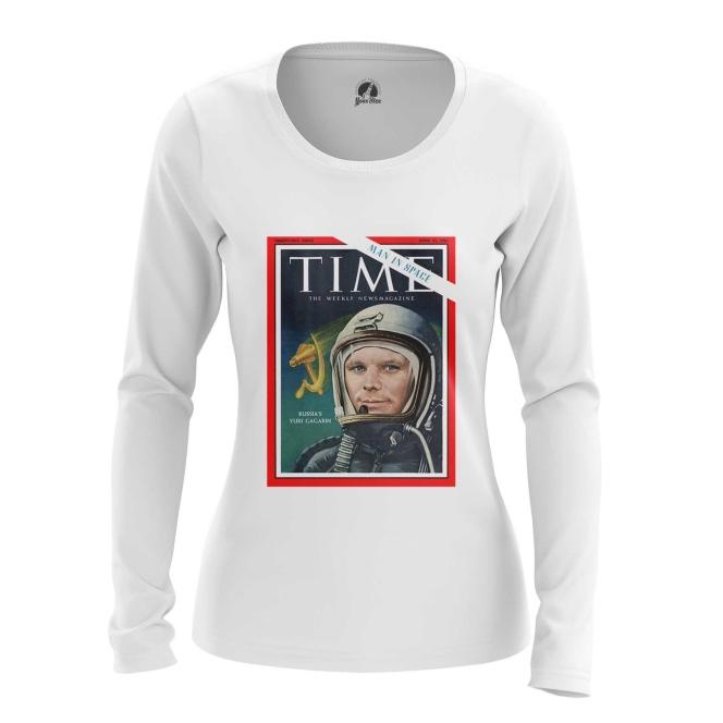 Collectibles Women'S Long Sleeve Magazine Cover Time Yuri Gagarin