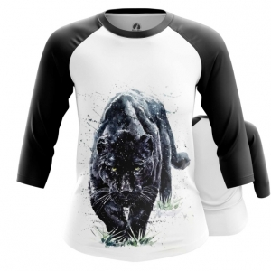 Merchandise Womens Raglan Black Panther Wild Cat