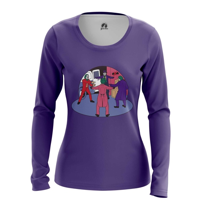 Collectibles Women'S Long Sleeve All Dc Universe Jokers