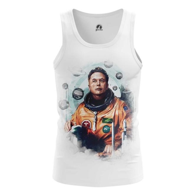 Merchandise Men'S Tank Astronaut Elon Musk Icon Vest