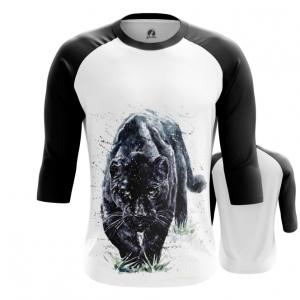 Merchandise Men'S Raglan Black Panther Wild Cat
