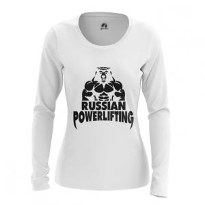 Merchandise Women'S Long Sleeve Powerlifting Russian Merch