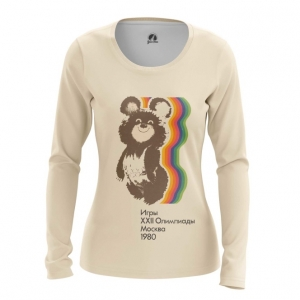 Merch Women'S Long Sleeve Olympic Games 1980 Ussr Symbols Bear