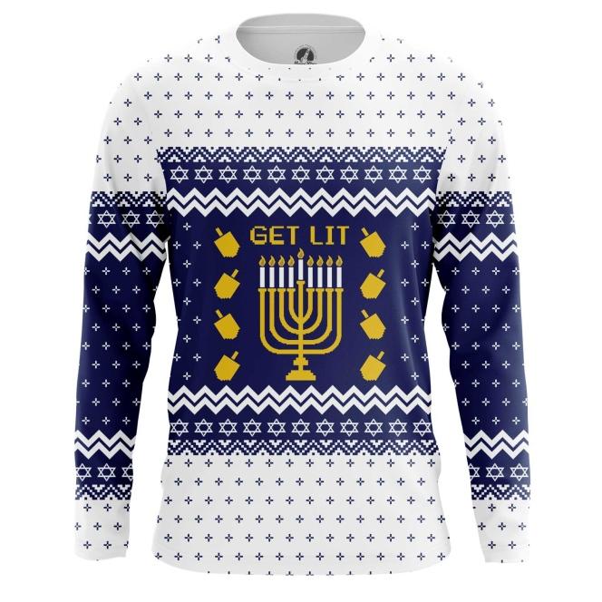 Merchandise Men'S Long Sleeve Hanukkah Jewish Festival Christmas