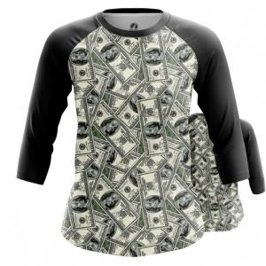 Collectibles Women'S Raglan 100 Dollars Money Print
