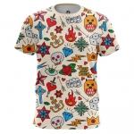 Merchandise - Men'S T-Shirt Retro Tattoo Clothing Print Top