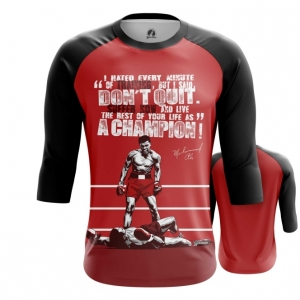 Merchandise - Mens Raglan Muhammad Ali Quotes Clothing