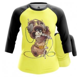 Merch Women'S Raglan Mascot Olympic Bear Ussr