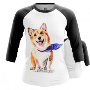 Merchandise Womens Raglan Corgi Pembroke Welsh Dogs
