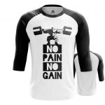 Merch - Mens Raglan No Pain No Gain Powerlifting