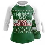 Collectibles Women'S Raglan Merry Christmas Go Fuck Yourself