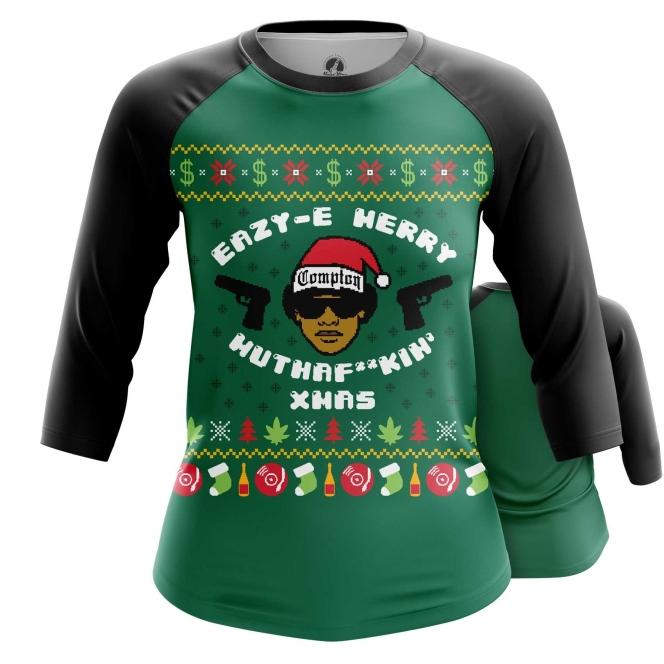 Merch Women'S Raglan Merry Motherfucki' Xmas Eazy-E
