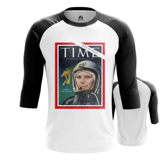 Merchandise Men'S Raglan Magazine Cover Time Yuri Gagarin