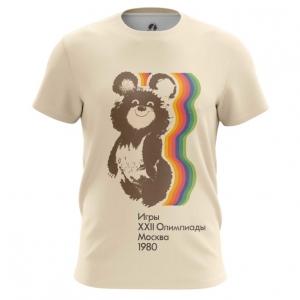 Merch Men'S T-Shirt Olympic Games 1980 Ussr Symbols Bear Top